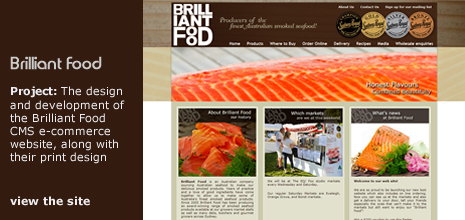 view Patmac Media's work on the 'Brilliant Food CMS e-commerce website' website