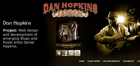 Dan Hopkins website design and development