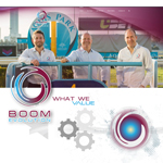 Boom Evolution website and branding